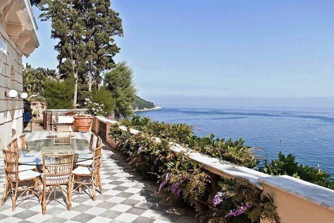 Villa Astor, beautiful terrace with sea-view