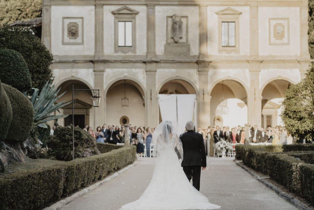 Romantic bridal entrance