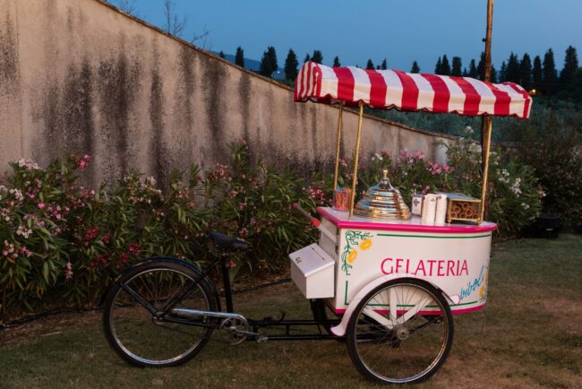 Icecream cart for a welcome dinner