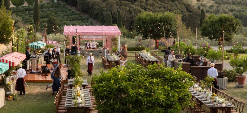 Wedding welcome party in Italy