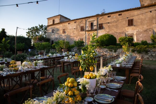 Welcome dinner in a country villa in Florence
