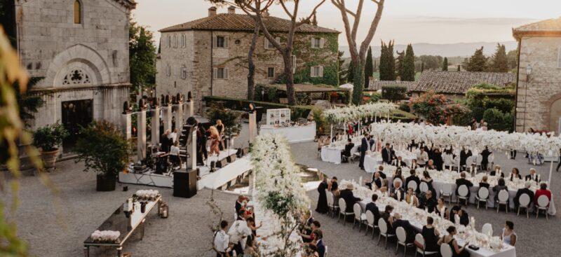 all white wedding tuscany