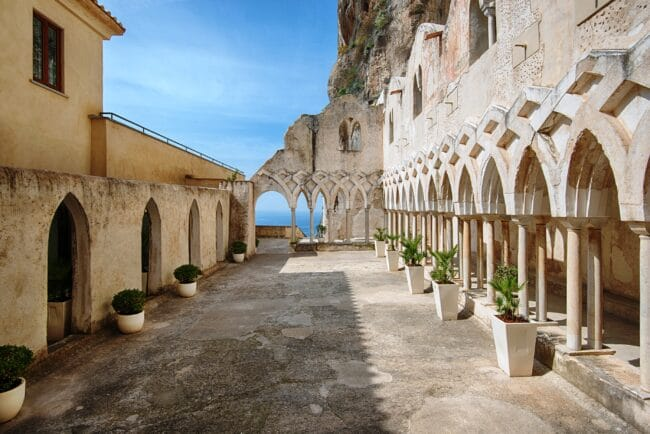 Wedding venue Amalfi Coast cloister for ceremony