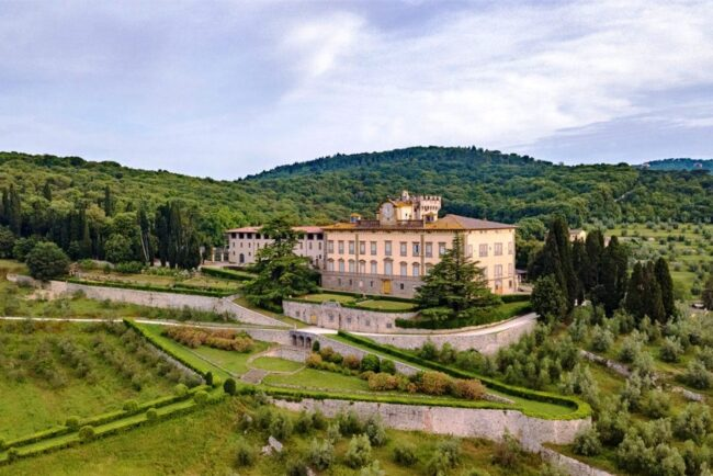 View of the villa from the vineyards