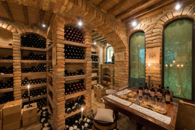 Wine cellar for the guests