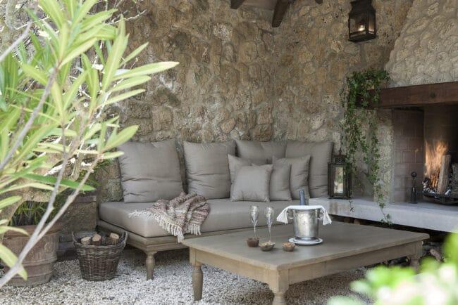 Outdoor grey color living room