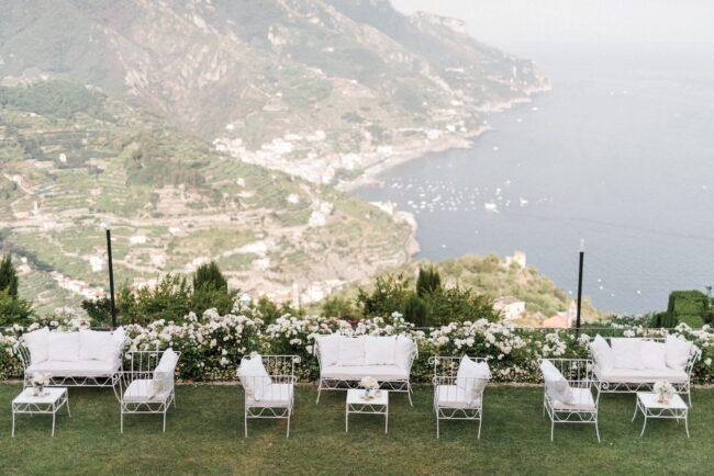 Garden with sea view in amalfi coast