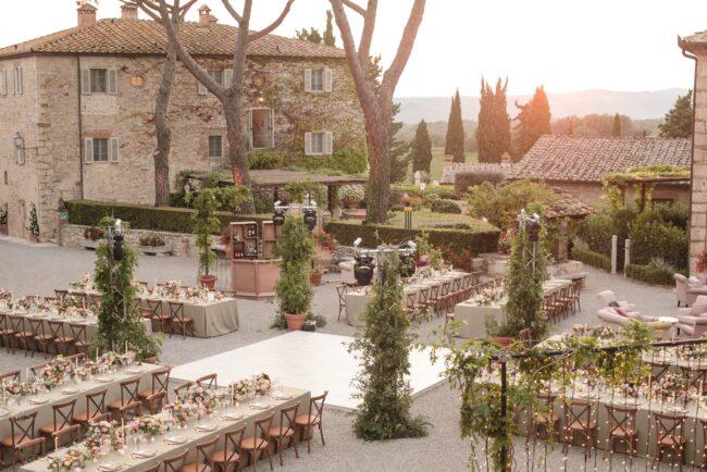 Outdoor wedding in italy in a borgo
