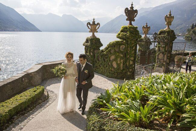 outdoor wedding Como Lake